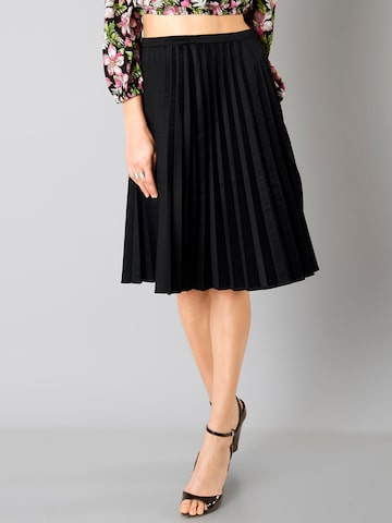 FabAlley Black Flared Accordian Pleated Skirt at myntra