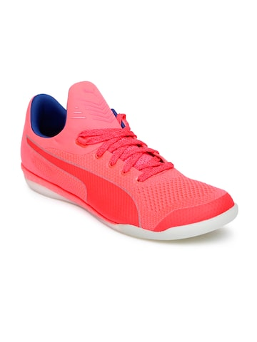 Puma Men Pink evoKNIT IGNITE CT Football Shoes at myntra