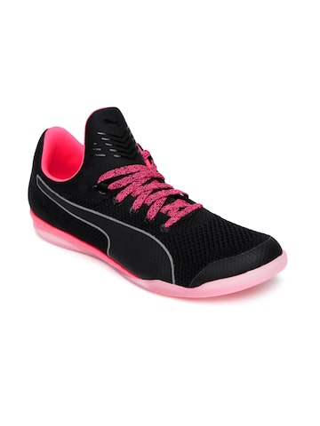 Puma Men Black evoKNIT IGNITE CT Football Shoes at myntra