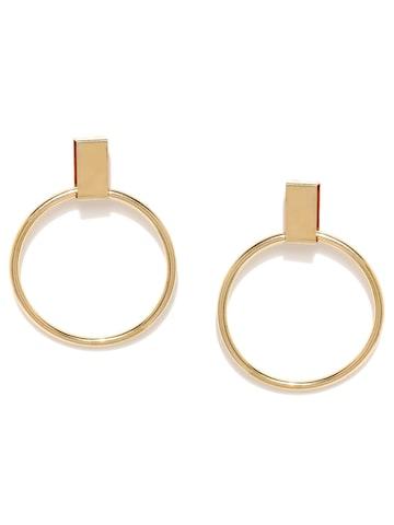 ToniQ Gold-Toned Drop Earrings at myntra