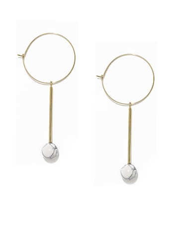 ToniQ Gold-Toned Hoop Earrings at myntra