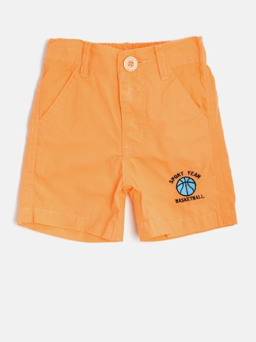 Baby League Boys Orange Solid Shorts at myntra