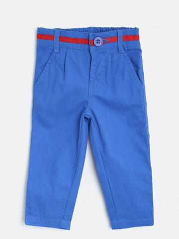Baby League Boys Blue Trousers at myntra