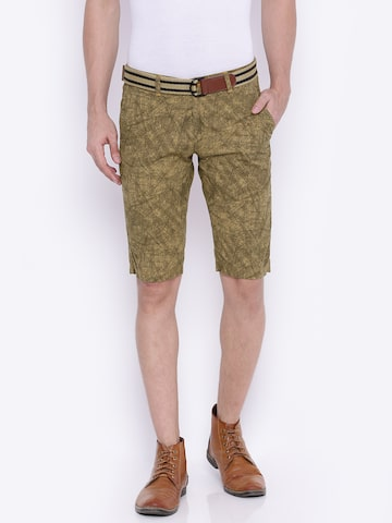 Sports52 wear Men Khaki Printed Chino Shorts at myntra