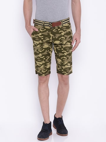 Sports52 wear Men Olive Printed Chino Shorts at myntra