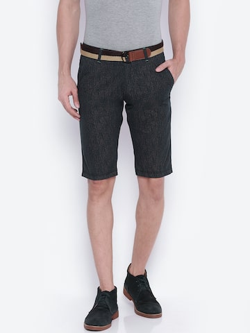 Sports52 wear Men Navy & Brown Printed Chino Shorts at myntra