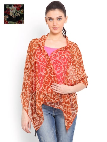 Trend Arrest Set Of 2 Printed Scarves at myntra