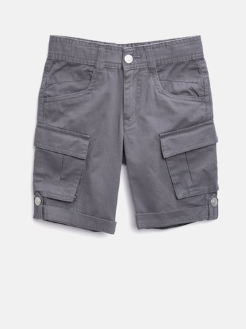 United Colors of Benetton Boys Grey Solid Cargo Shorts at myntra