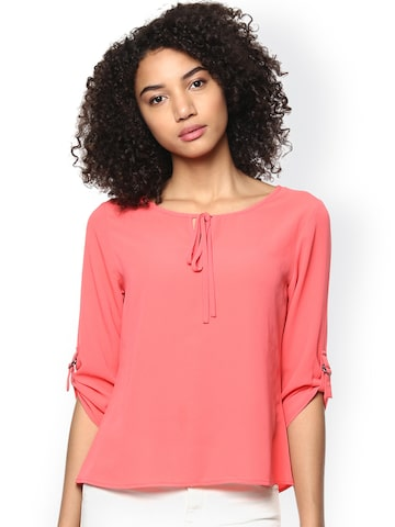 Harpa Coral Pink Top at myntra