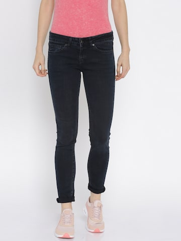 Pepe JeansBlack Skinny Fit Jeans at myntra