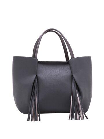 Elespry Grey Tassel Shoulder Bag at myntra