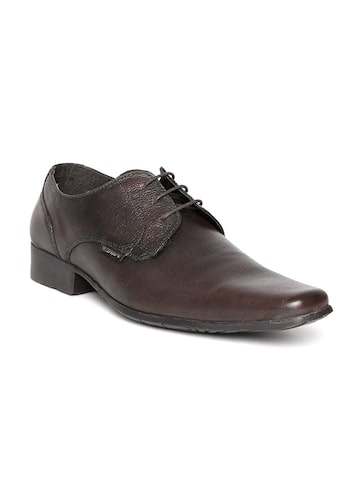 Red Tape Men Coffee Brown Leather Formal Shoes at myntra