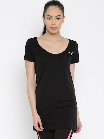 Puma Women Black T-shirt at myntra