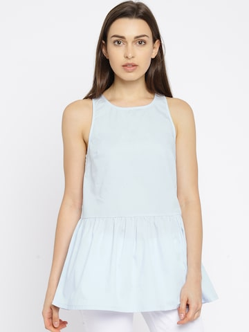 Vero Moda Blue Peplum Tunic at myntra