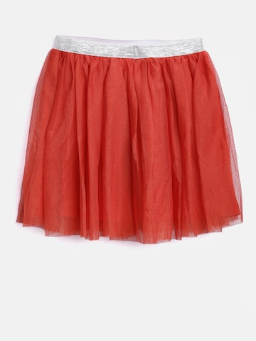 612 league Girls Red Net Flared Skirt 612 league Skirts at myntra