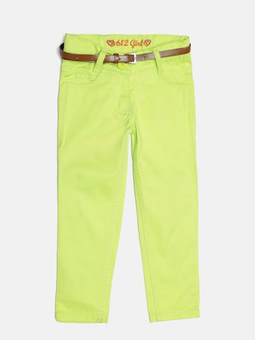 612 league Girls Lime Green Trousers 612 league Trousers at myntra