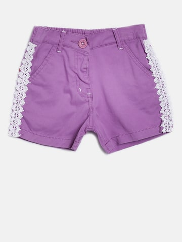 Baby League Girls Purple Shorts at myntra