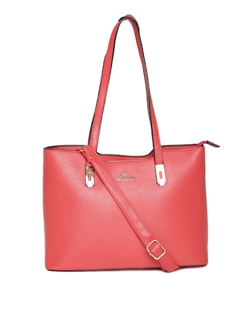 Lavie C Red Shoulder Bag With Sling Strap From Myntra In Handbags