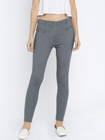 Vero Moda Women Charcoal Grey Jeggings at myntra