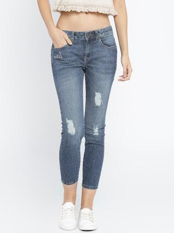 Vero Moda Women Blue Slim Fit Jeans at myntra