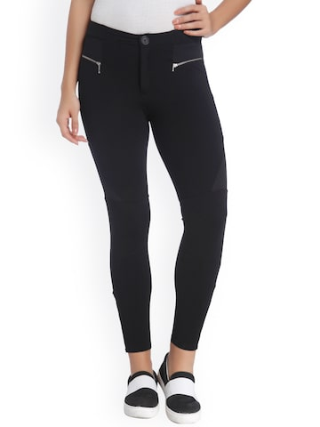 ONLY Black Treggings at myntra