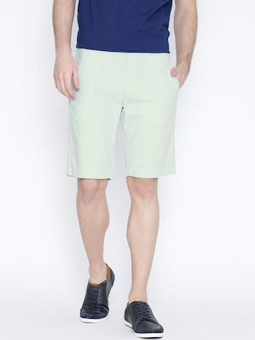 United Colors of Benetton Men Mint Green Slim Fit Shorts at myntra