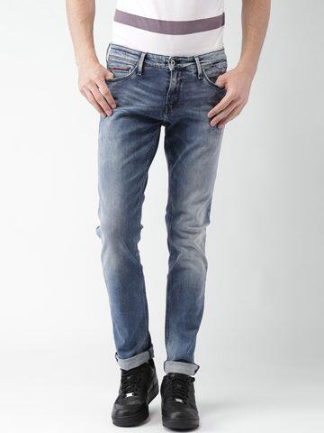 Tommy Hilfiger Men Blue Skinny Fit Jeans at myntra