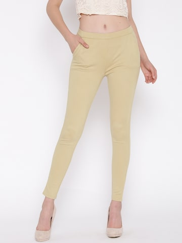 United Colors of Benetton Beige Ankle-Length Leggings at myntra