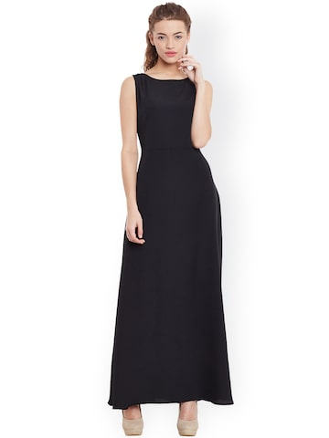 Miss Chase Women Black Maxi Dress at myntra