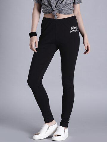 Kook N Keech Disney Black Printed Leggings at myntra