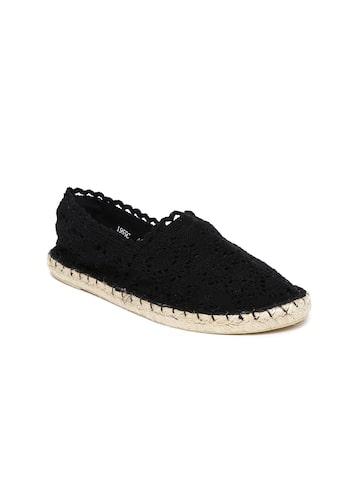 Catwalk Women Black Espadrilles Catwalk Casual Shoes at myntra