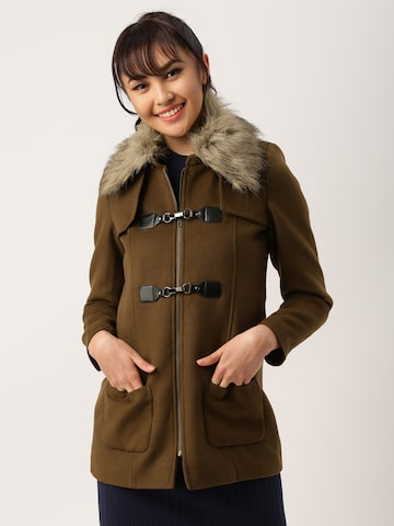 DressBerry Brown Trench Coat DressBerry Coats at myntra