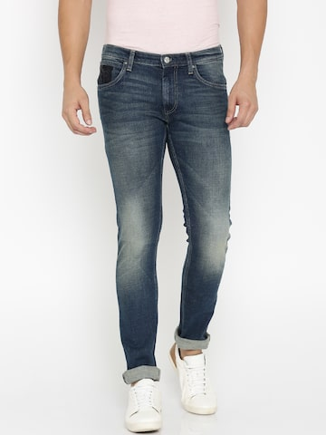 Lee Men Navy Luke Skinny Fit Jeans at myntra