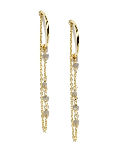 Accessorize Gold-Plated Beaded Half-Hoop Earrings at myntra