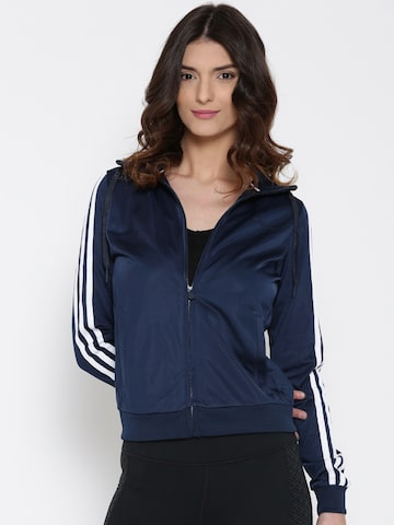 Adidas NEO Women Navy Solid Sporty Jacket at myntra