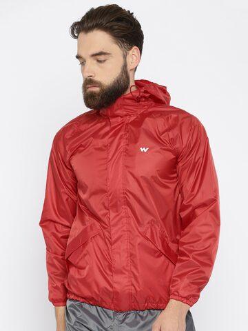 Wildcraft Red Hodded Rain Jacket at myntra