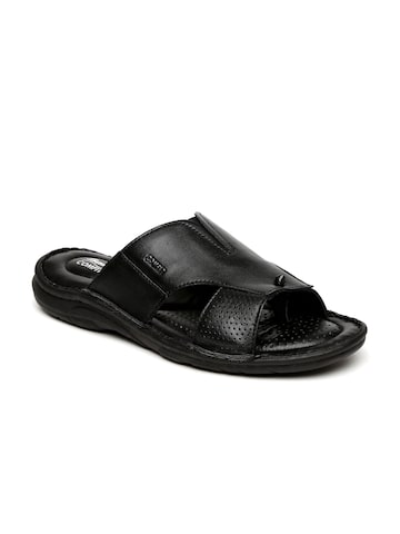 Bata Comfit Men Black Sporty Mule Perforated Sandals at myntra