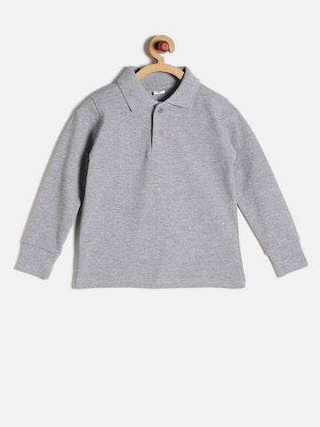 GKIDZ Boys Grey Solid Polo T-Shirt at myntra