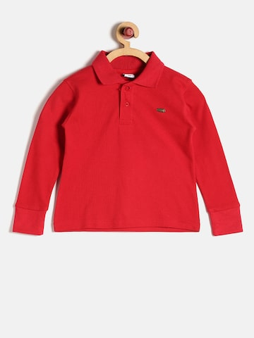 GKIDZ Boys Red Solid Polo Collar T-shirt GKIDZ Tshirts at myntra