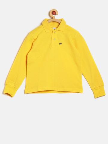 GKIDZ Boys Yellow Solid Polo Collar T-shirt GKIDZ Tshirts at myntra