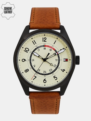 Tommy Hilfiger Men Cream-Coloured Analogue Watch TH1791372J at myntra