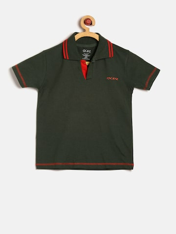 GKIDZ Boys Olive Green Solid Polo T-shirt at myntra