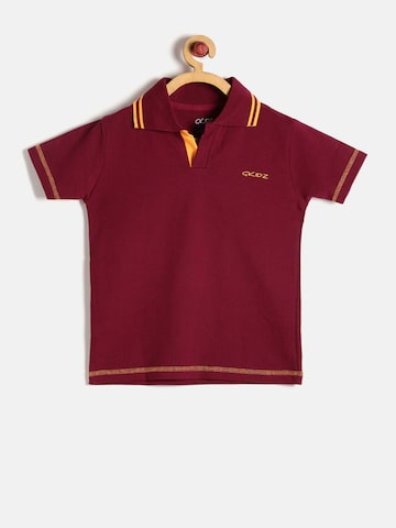GKIDZ Boys Maroon Solid Polo T-shirt at myntra