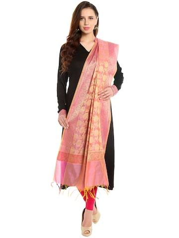Dupatta Bazaar Pink Banarasi Silk Dupatta at myntra