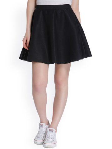 ONLY Black Skater Skirt at myntra