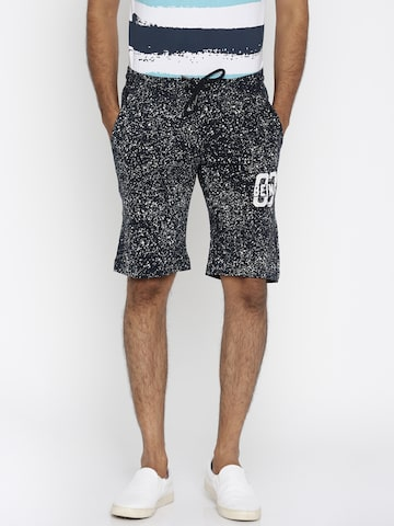 Being Human Men Navy Printed Regular Fit Shorts at myntra