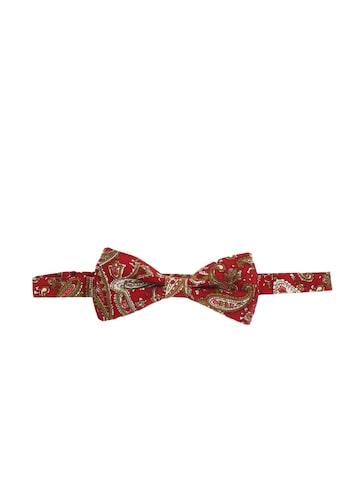 Alvaro Castagnino Maroon Ethnic Print Bow Tie at myntra
