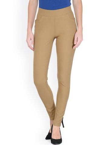 Gipsy Khaki Jeggings at myntra