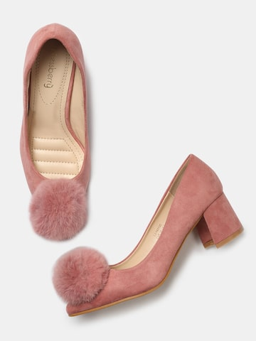 DressBerry Women Pink Solid Pumps DressBerry Heels at myntra