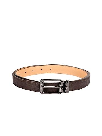 BuckleUp Women Brown Textured Belt at myntra